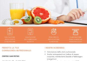 Prenota la tua consulenza nutrizionale: valutazione dei fabbisogni nutritivi, percorsi di rieducazione alimentare, elaborazione piani alimentari personalizzati